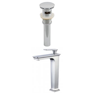 CUPC Approved Deck Mounted Single Handle Bathroom Faucet with Drain Assembly