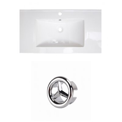 Roxy 32 Single Bathroom Vanity Top Faucet Mount: Single, Overflow Cap Color: Chrome