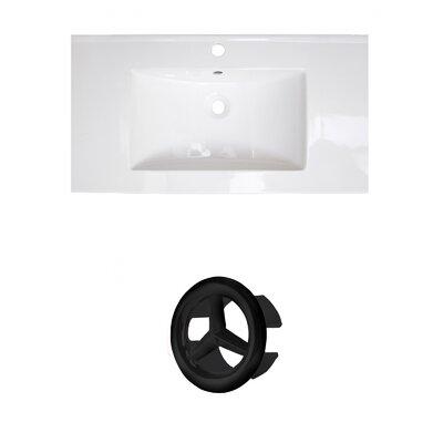 Roxy 32 Single Bathroom Vanity Top Faucet Mount: Single, Overflow Cap Color: Black