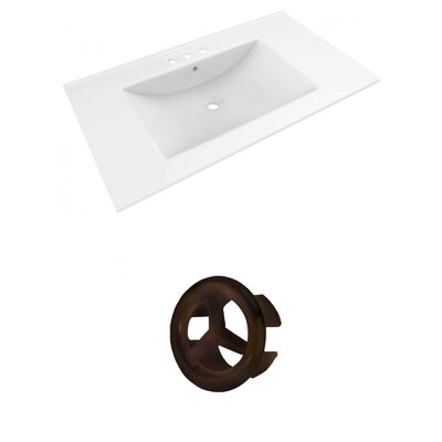 Drake 36 Single Bathroom Vanity Top Faucet Mount: 8 Centers, Overflow Cap Color: Oil Rubbed Bronze