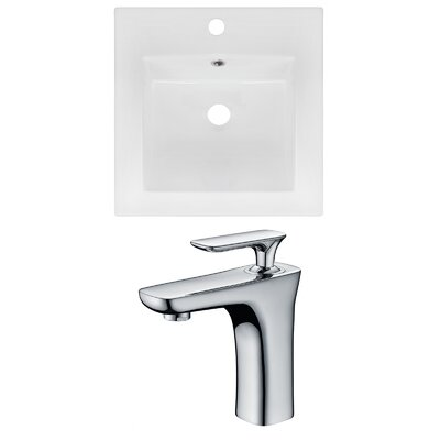 Ceramic 17 Single Bathroom Vanity Top