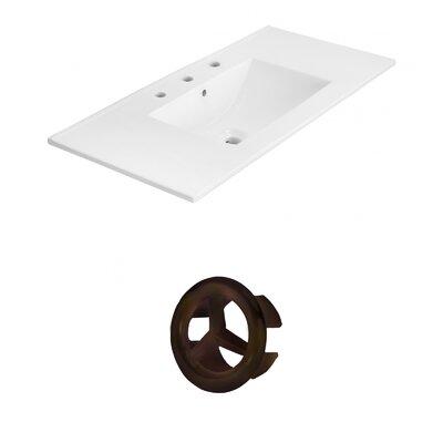 Drake 36 Single Bathroom Vanity Top Faucet Mount: 8 Centers, Overflow Cap Color: Oil Rubbed Bronze