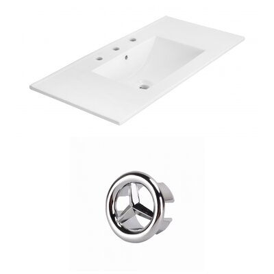 Drake 36 Single Bathroom Vanity Top Faucet Mount: 8 Centers, Overflow Cap Color: Chrome