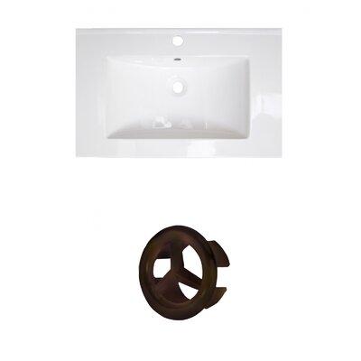 Vee Ceramic 21 Single Bathroom Vanity Top Faucet Mount: Single, Overflow Color: Oil Rubbed Bronze
