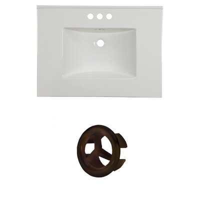 31 Single Bathroom Vanity Top Faucet Mount: 4 Centers, Overflow Cap Color: Oil Rubbed Bronze