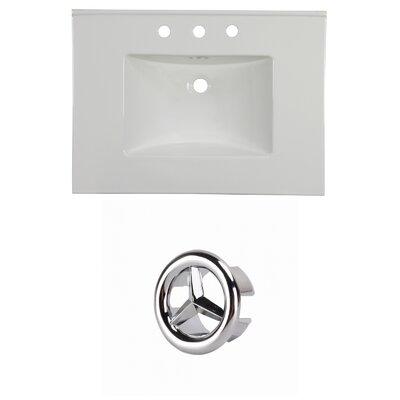 31 Single Bathroom Vanity Top Faucet Mount: 8 Centers, Overflow Cap Color: Chrome