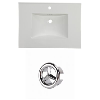 31 Single Bathroom Vanity Top Faucet Mount: Single, Overflow Cap Color: Chrome