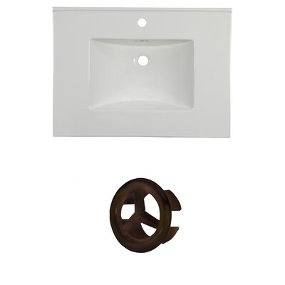 31 Single Bathroom Vanity Top Faucet Mount: Single, Overflow Cap Color: Oil Rubbed Bronze