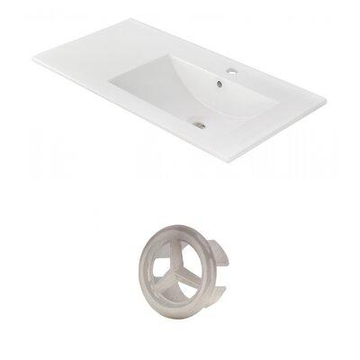 Drake 36 Single Bathroom Vanity Top Faucet Mount: Single, Overflow Cap Color: Brushed Nickel