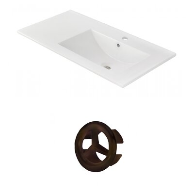 Drake 36 Single Bathroom Vanity Top Faucet Mount: Single, Overflow Cap Color: Oil Rubbed Bronze