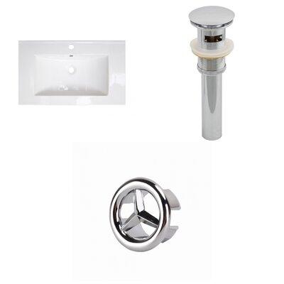 Roxy 32 Single Bathroom Vanity Top Faucet Mount: Single, Overflow Cap Color: Chrome
