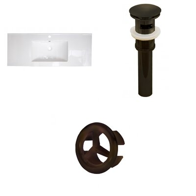 Roxy Ceramic 48 Single Bathroom Vanity Top Faucet Mount: Single, Drain Color: Oil Rubbed Bronze