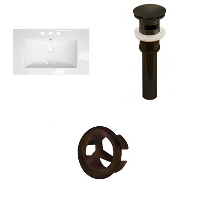 Roxy 32 Single Bathroom Vanity Top Faucet Mount: 8 Centers, Overflow Cap Color: Oil Rubbed Bronze