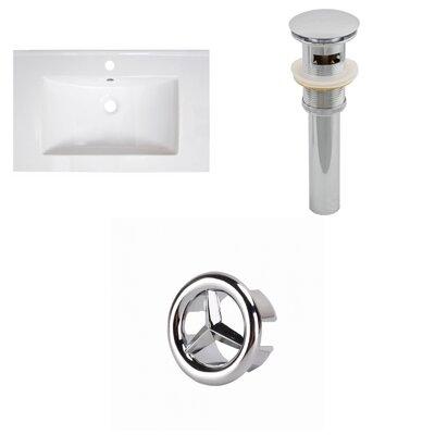 30 Single Bathroom Vanity Top Faucet Mount: Single, Overflow Cap Color: Chrome