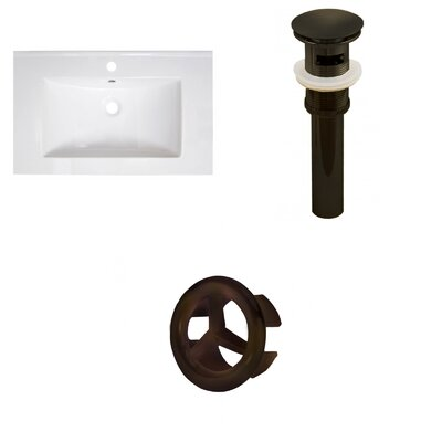 30 Single Bathroom Vanity Top Faucet Mount: Single, Overflow Cap Color: Oil Rubbed Bronze