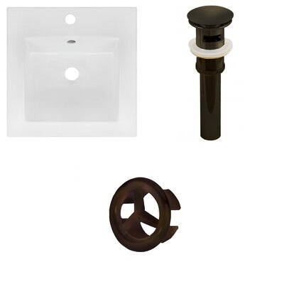 Xena Ceramic 59 Double Bathroom Vanity Top Faucet Mount: 8 Centers, Drain Color: Oil Rubbed Bronze