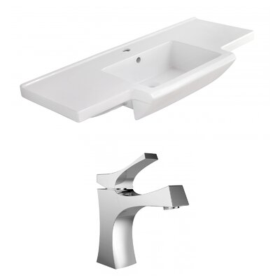 Prelude Ceramic 40 Single Bathroom Vanity Top