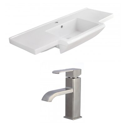 Ceramic 40 Single Bathroom Vanity Top