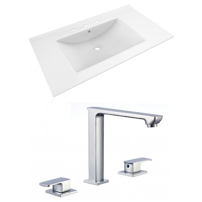 Drake 36 Single Bathroom Vanity Top Top Finish: White