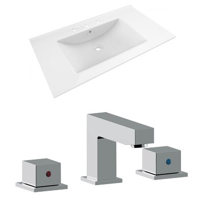 Ceramic 36 Single Bathroom Vanity Top Top Finish: White