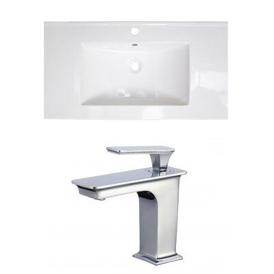 1 Hole Ceramic 32 Single Bathroom Vanity Top