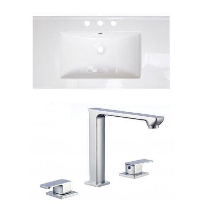Ceramic 32 Single Bathroom Vanity Top