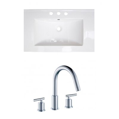 Ceramic 32 Single Bathroom Vanity Top