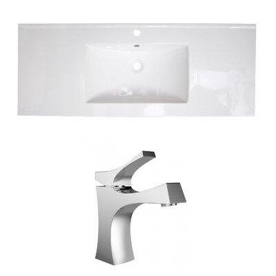 Ceramic 48 Single Bathroom Vanity Top