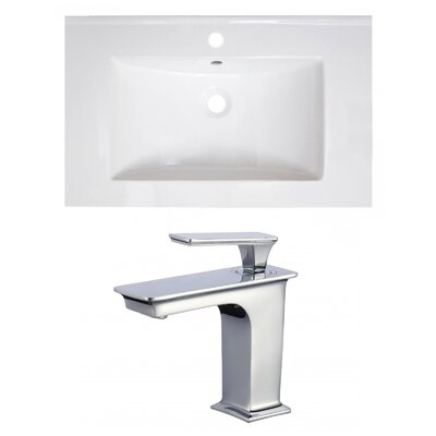 1 Hole Ceramic 30 Single Bathroom Vanity Top