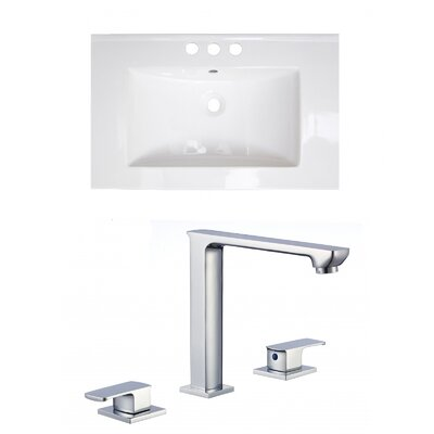 Ceramic 21 Single Bathroom Vanity Top