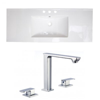 3 Hole Ceramic 40 Single Bathroom Vanity Top
