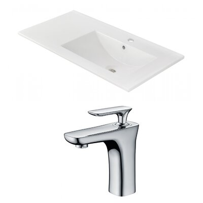 1 Hole Ceramic 36 Single Bathroom Vanity Top