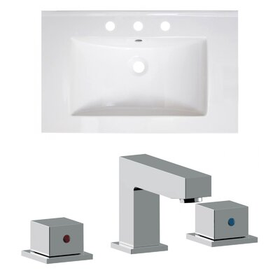 3 Hole Ceramic 30 Single Bathroom Vanity Top