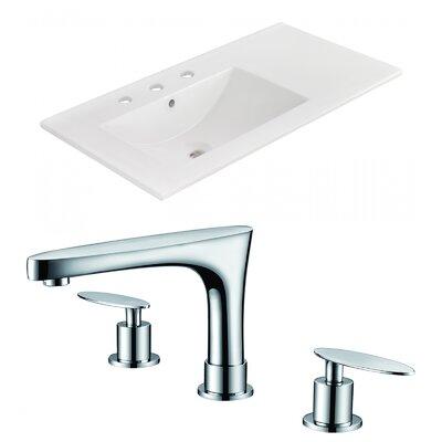 3 Hole Ceramic 36 Single Bathroom Vanity Top