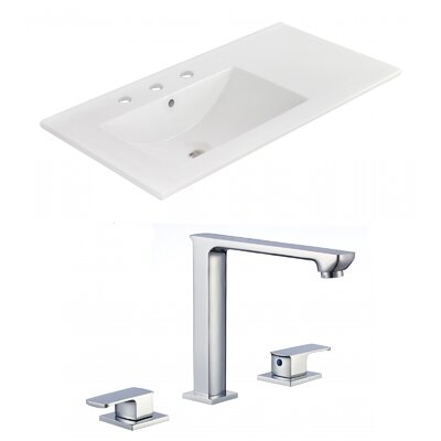3 Hole Ceramic 36 Single Bathroom Vanity Top