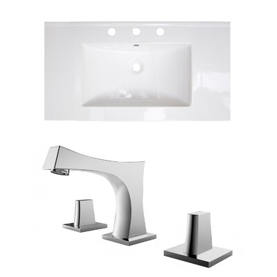 3 Hole Ceramic 37 Single Bathroom Vanity Top