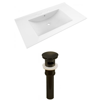 Drake 36 Single Bathroom Vanity Top Faucet Mount: 8 Centers, Drain Color: Oil Rubbed Bronze