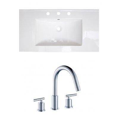 3 Hole Ceramic 37 Single Bathroom Vanity Top