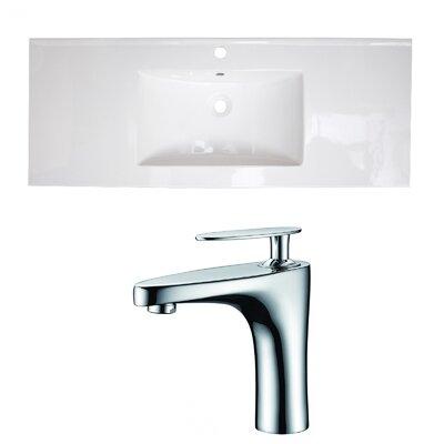 Ceramic 49 Single Bathroom Vanity Top