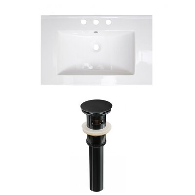 Ceramic 24 Single Bathroom Vanity Top Faucet Mount: 8 Centers