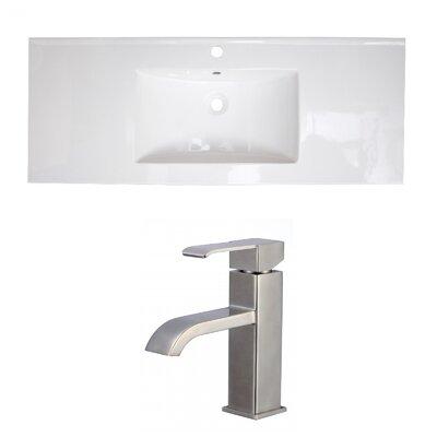 1 Hole Ceramic 49 Single Bathroom Vanity Top