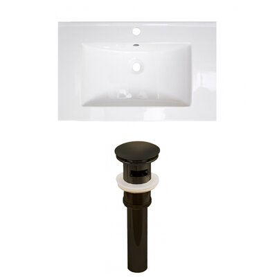 Roxy Ceramic 24 Single Bathroom Vanity Top Faucet Mount: Single, Drain Color: Oil Rubbed Bronze