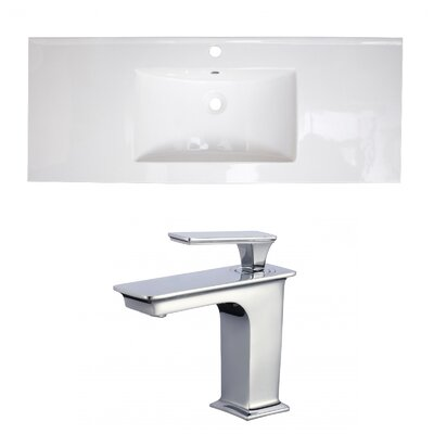 1 Hole Ceramic 49 Single Bathroom Vanity Top