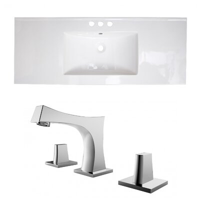 3 Hole Ceramic 49 Single Bathroom Vanity Top