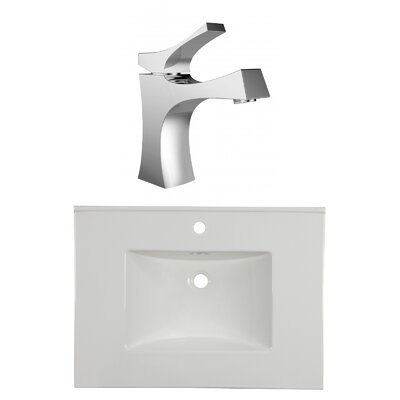 1 Hole Ceramic 31 Single Bathroom Vanity Top