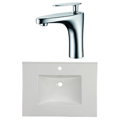 1 Hole Ceramic 31 Single Bathroom Vanity Top