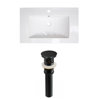 Ceramic 32 Single Bathroom Vanity Top Faucet Mount: Single