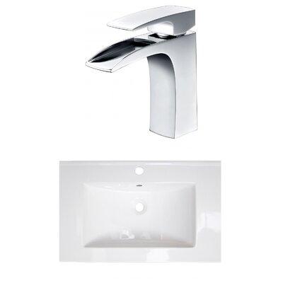 1 Hole Ceramic 24 Single Bathroom Vanity Top