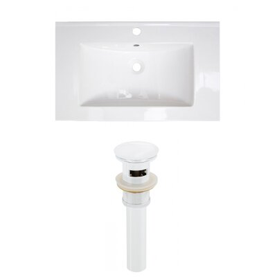 Roxy 32 Single Bathroom Vanity Top Faucet Mount: Single, Drain Color: White