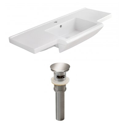 Ceramic 40 Single Bathroom Vanity Top Faucet Mount: Single